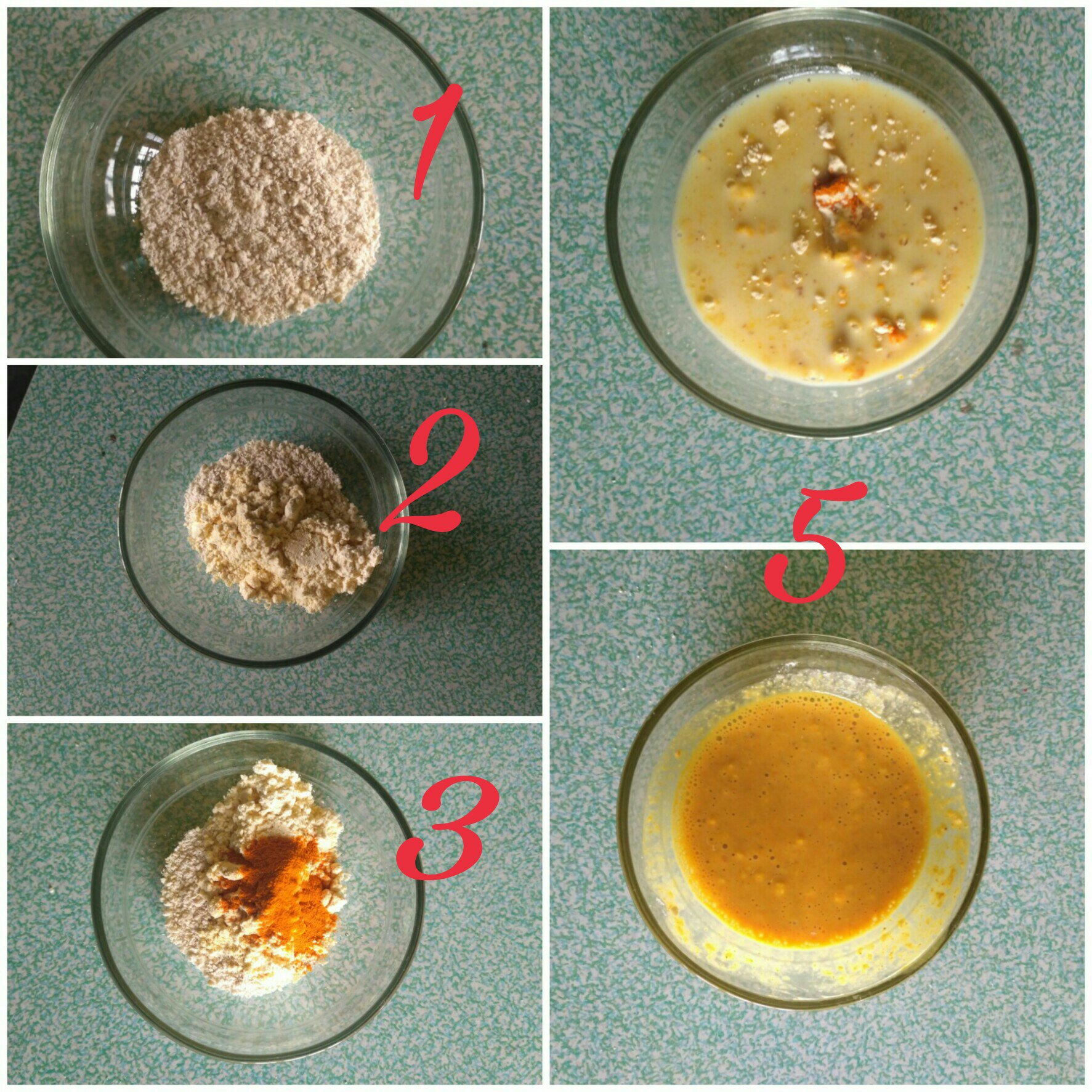 DIY Oatmeal Gram Flour And Turmeric Face Pack Cum Scrub