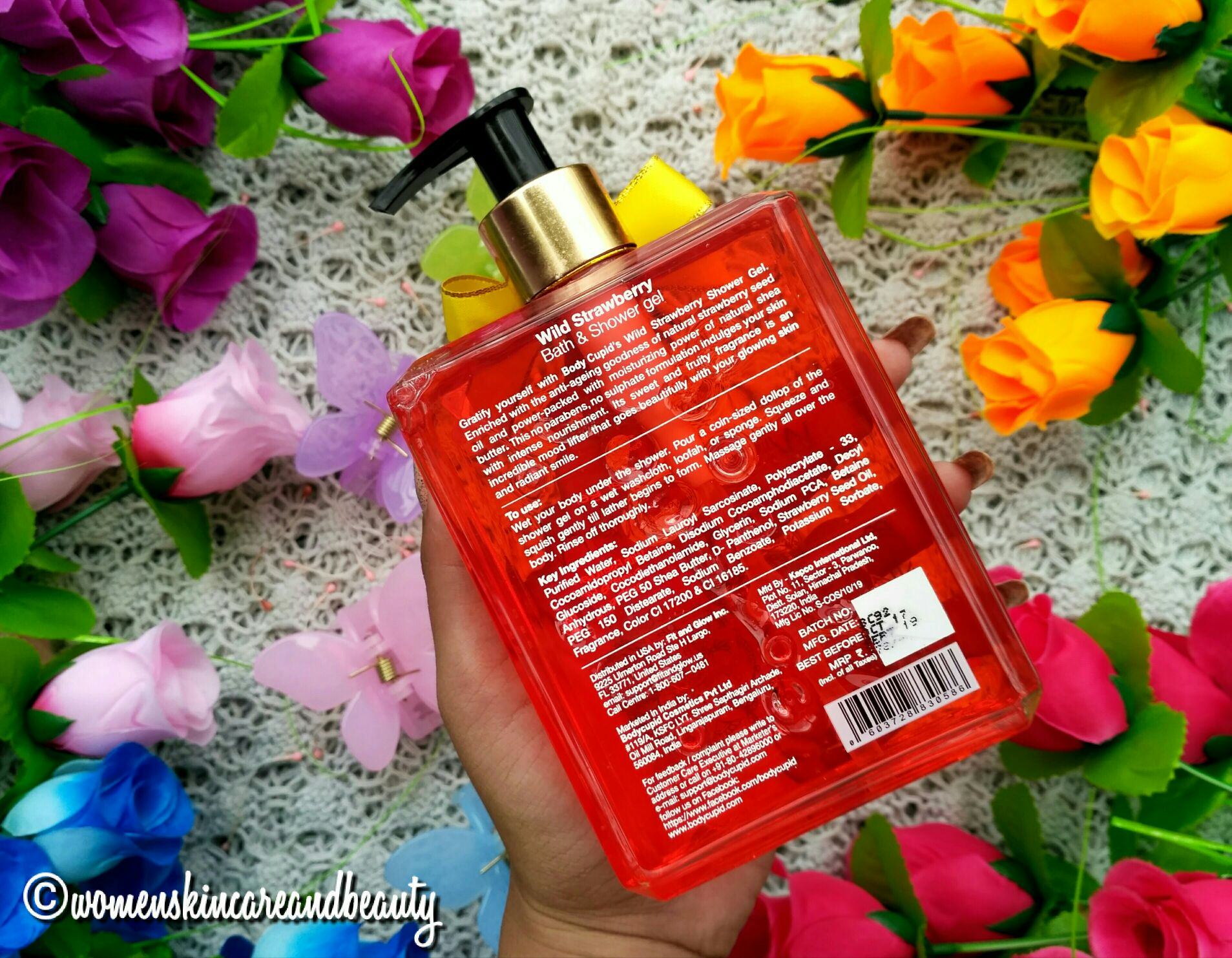 Body Cupid Bath & Shower Gel, Wild Strawberry